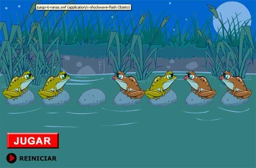 el juego de las 6 ranas