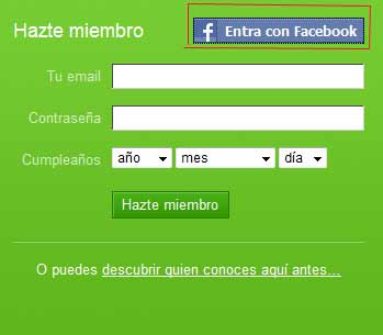 entra con facebook