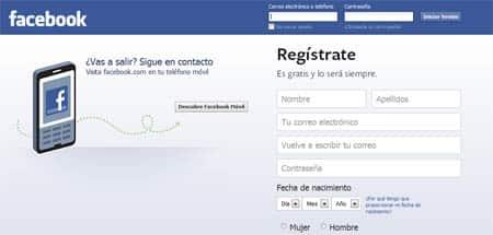 iniciar sesion facebook